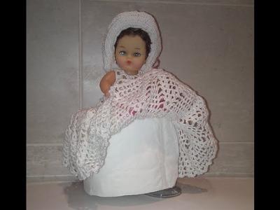 Elementos decorativos para el baño a ganchillo: janoneras, soportes papel higienico