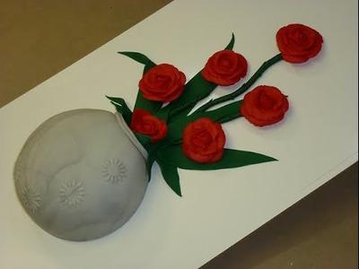 Florero con Rosas  2a. Parte