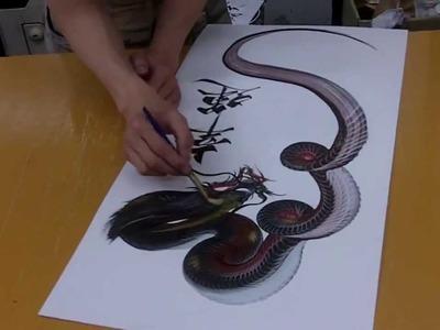 Increíble pintura japonesa