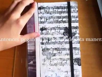 Manualidades para la vuelta al cole: Cómo decorar una libreta moleskine estilo vintage