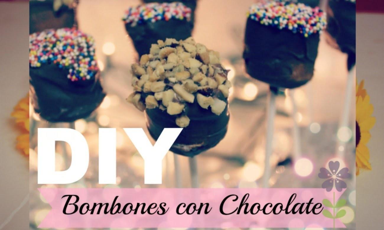 Paletas De Bombon Con Chocolate.Super Faciles