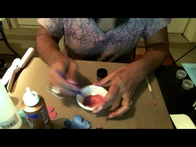Parte 1 de Como hacer Glammer Paint Pintura con brillo