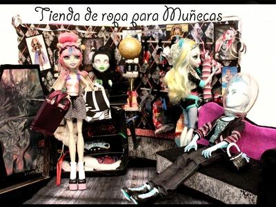 Tienda de ropa para muñecas en una carpeta | Diy para niños