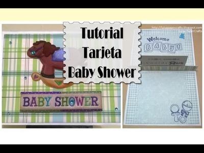 Tutorial Tarjeta para Baby Shower