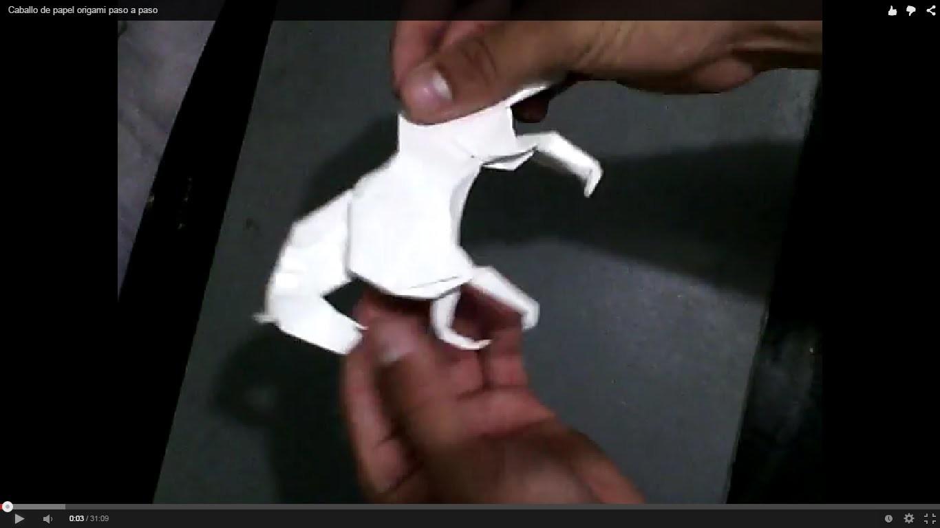 Caballo de papel origami paso a paso