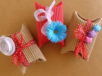 Cajas en forma de almohada {FACIL+ECOLOGICO}. San Valentin