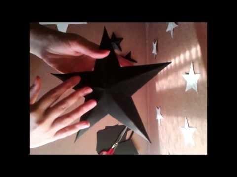 Como hacer estrellas navideñas paso a paso