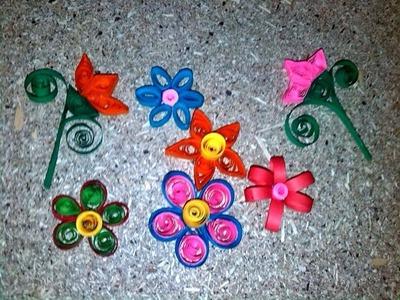 Como hacer flores con tiras de papel (filigrana fácil)