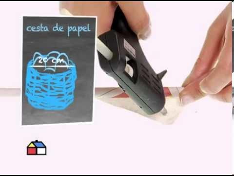 ¿Cómo hacer un canasto de papel?