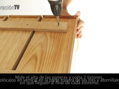 Cómo hacer un mueble para la cocina con una panera
