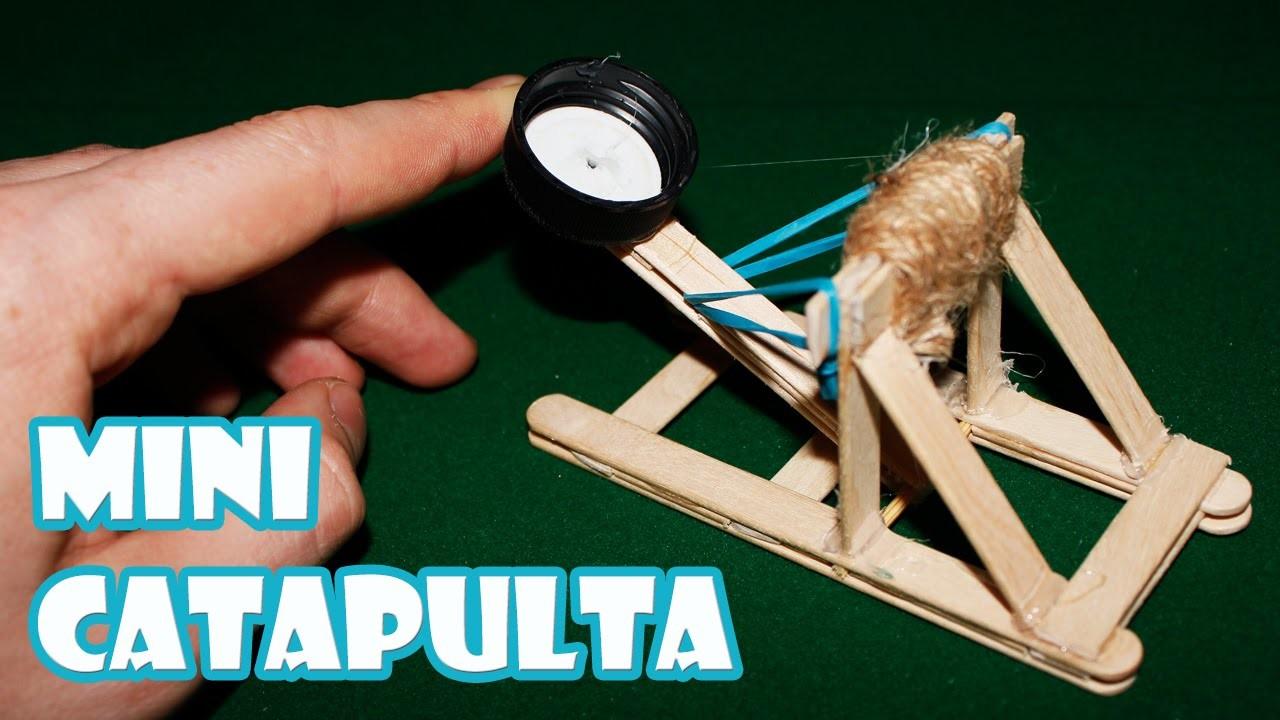 Cómo Hacer Una Mini Catapulta Casera