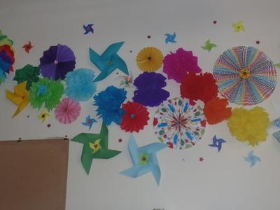 Decoración para paredes. muros ¡¡con papel!!
