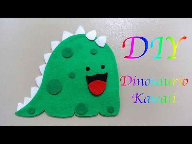 DINOSAURIO KAWAII | DINOSAUR | DIY | MANUALIDADES | CRAFTS - YuureYCrafts