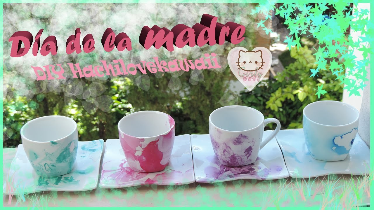DIY Decora tus tazas y platos! ♥ Girly Day ♥ Hachilovekawaii
