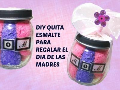DIY QUITA ESMALTE CON BOTE RECICLADO PARA EL DIA DE LAS MADRES