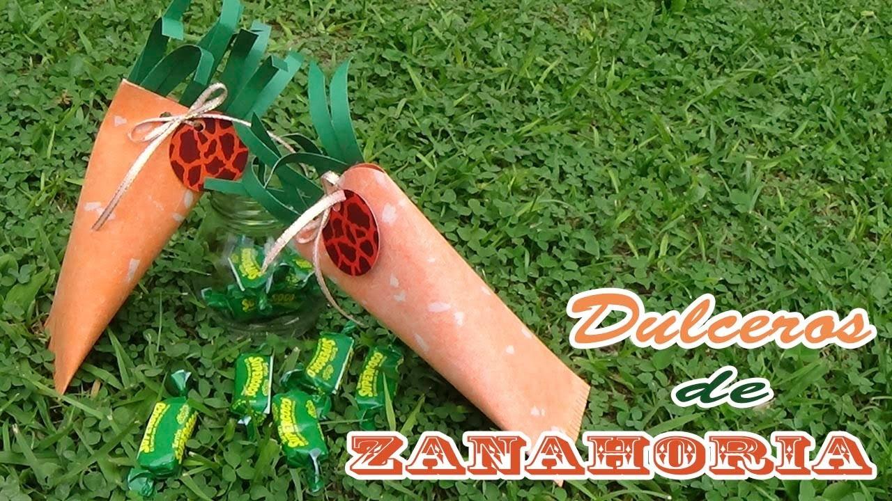 Dulceros con forma de zanahoria - Candy Bu