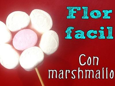 Flor de marshmallows fácil