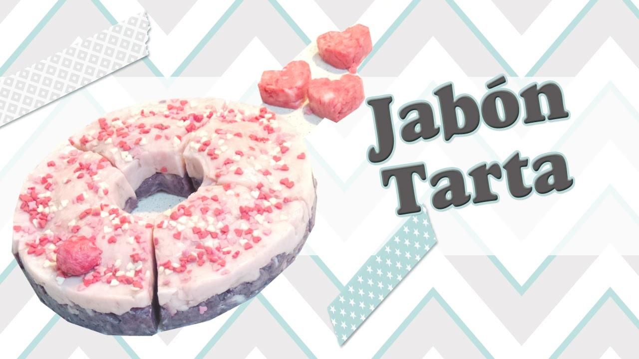 Jabón con forma de Tarta, regalo super original.
