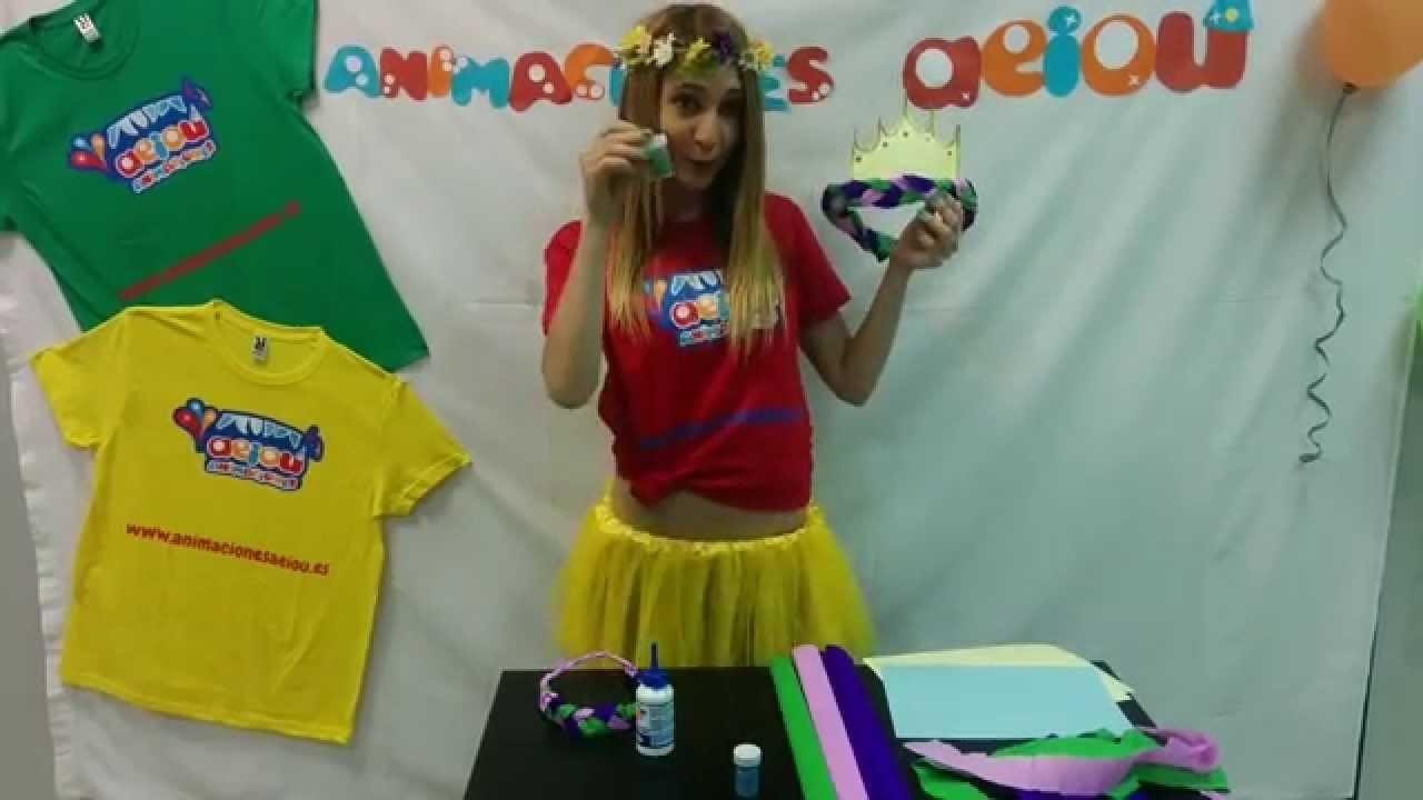 Manualidades fáciles para niños: corona de princesa infantil