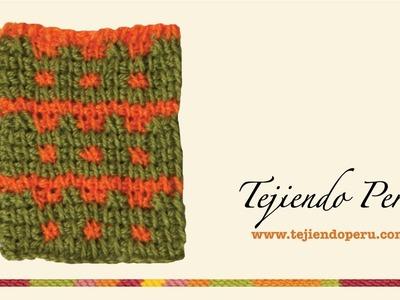 Punto en ganchillo tunecino # 8: patrón en dos colores