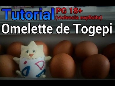 TUTORIAL - omelette de togepi en plastilina