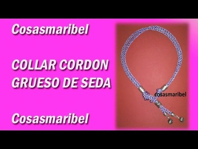 Collar cordón malva. wmv