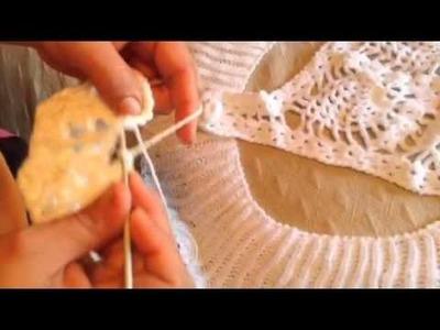 Como hacer bolero parte redonda en crochet
