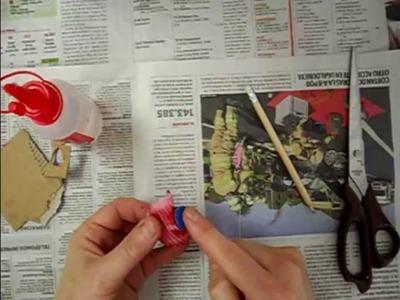 Cómo hacer rosas con papel de periódico, muy fácil