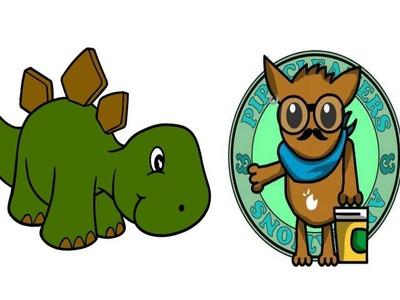 Como hacer un estegosaurio con limpiapipas