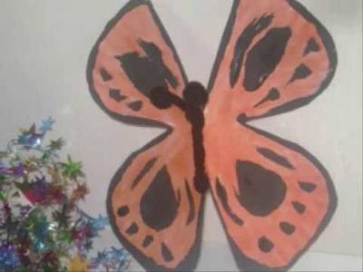 Como hacer una mariposa con un plato de papel