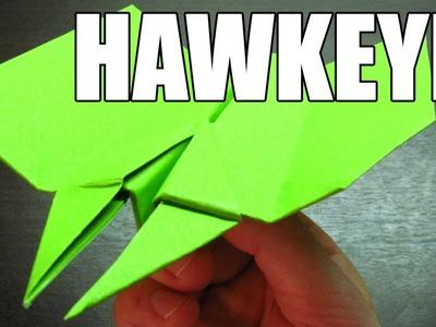 Como se hace un avion de papel doble punta SUPER PLANEADOR HAWKEYE Origami de papel (Muy fácil)