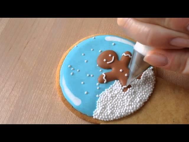Decoración de galletas para navidad - How To Decorate A Snow Globe Cookie