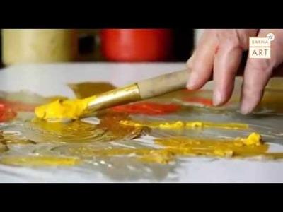 Demostración de la pintura encáustica al agua Cuní
