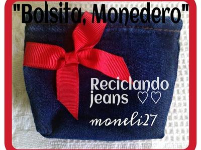 """DIY """"BOLSITA, MONEDERO"""" para el dia de las madres. RECICLANDO"""