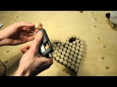 DIY. Corazón con corchos de vino