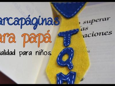 DIY: Manualidades Para Niños: Marcapáginas De Fieltro Para Papá - Brotes De Creatividad