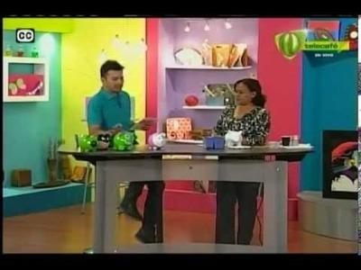 Espazio Ideal Pintando Alcancía en Cerámica 23 de abril 2014 - Telecafé