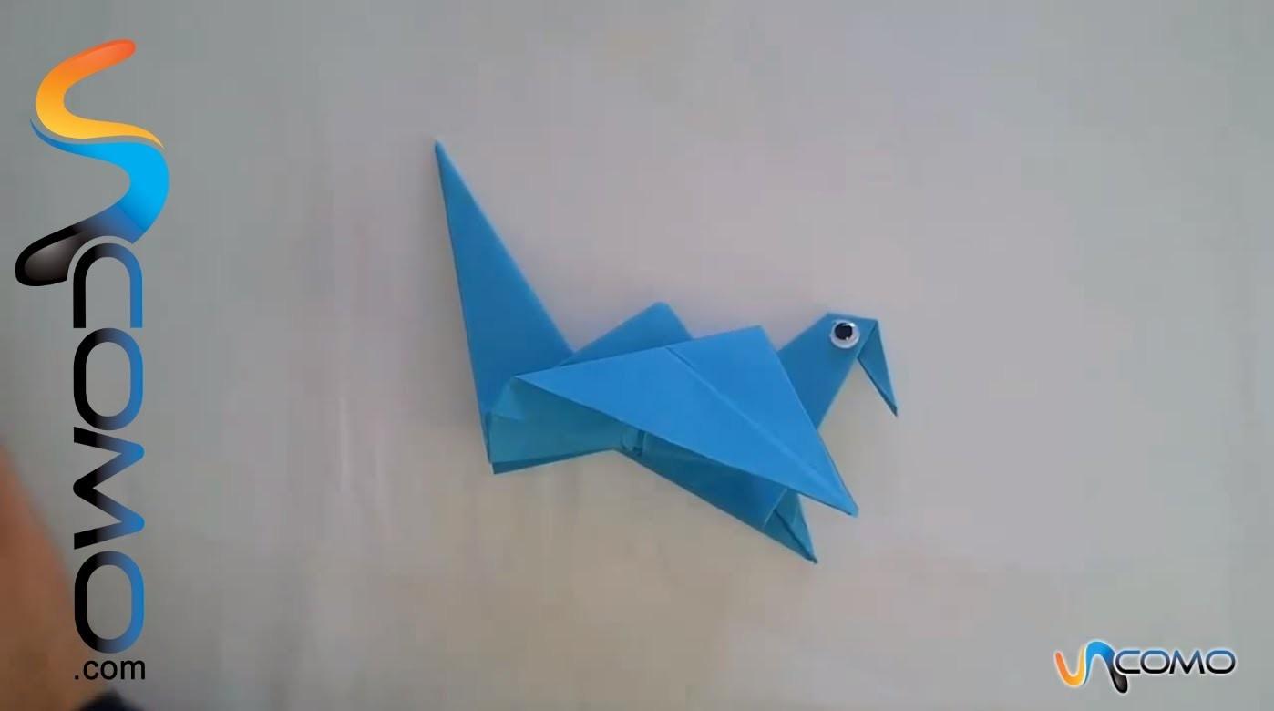 Hacer un pajaro de papel que mueve las alas