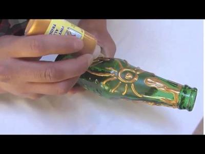 Manualidades - Como hacer un florero con una botella de vidrio