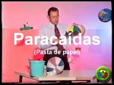 Manualidades Pasta de Papel - Paracaídas de juguete - Papel Maché
