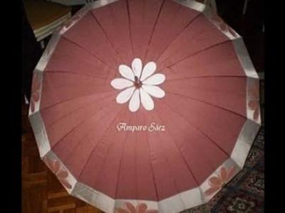 Paraguas pintados a mano por Amparo Sáez