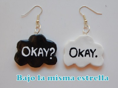 "Pendientes Fimo ""Bajo la misma estrella"" - The fault in our stars earrings"