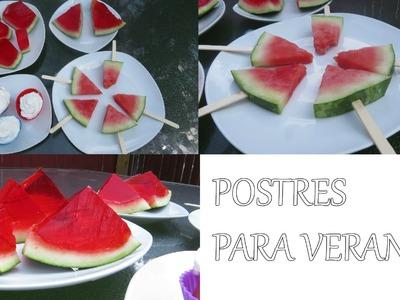POSTRES PARA EL VERANO | COLABORACION | Lore Peñaloza