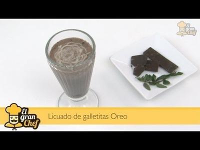 Batido de leche con galletas Oreo