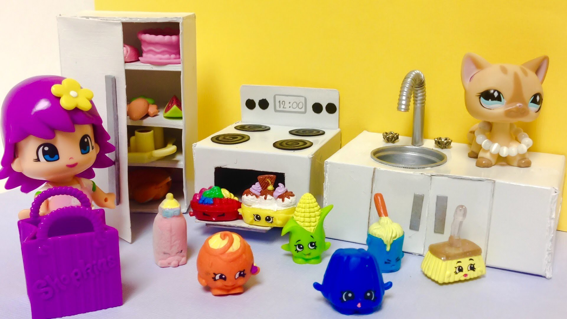 Cocina de juguete para shopkins pinypon o mu ecas para ni as - Juguetes cocina para ninos ...