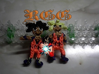 Como hacer a Goku  ((super saiyajin)) Dragon Ball con gomitas.(Rainbow Loom)