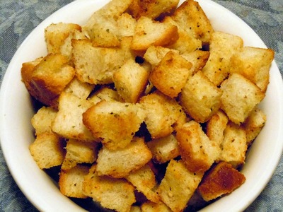 Como hacer Croutons