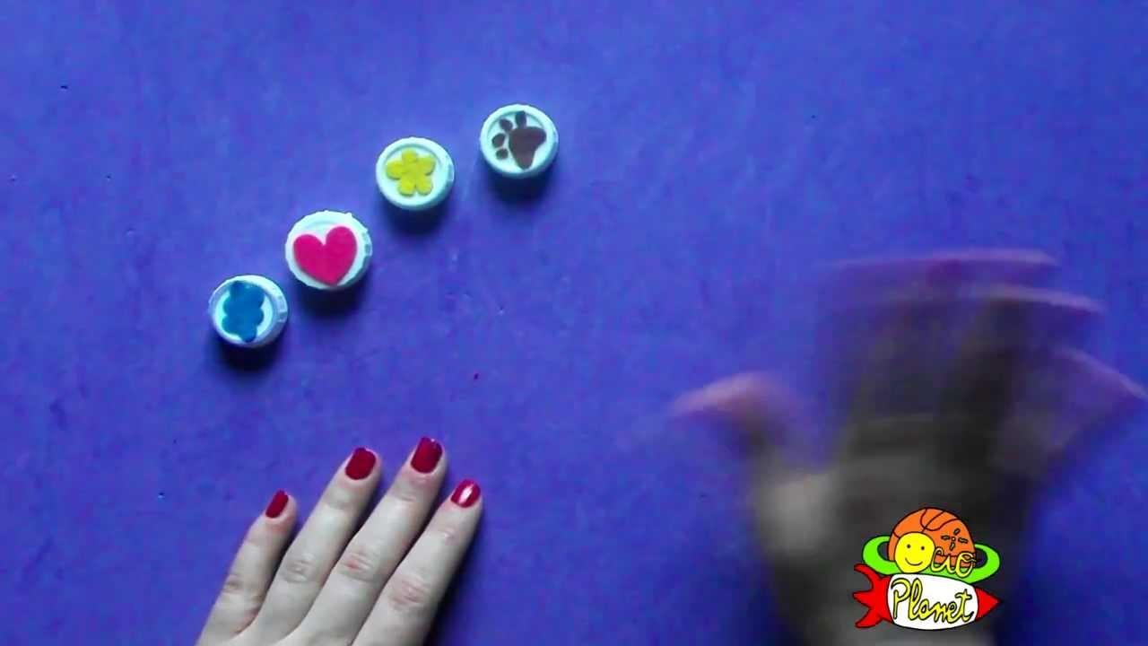 Cómo hacer sellos con tapones de plástico