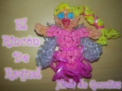 Como hacer un hada con gomitas rainbow loom