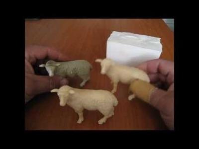 Como hacer un molde de silicona para reproducir figuras en resina o yeso